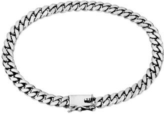 Aeravida Handmade Durable Bond Sterling Silver Cable Chain Bracelet