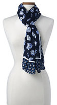 Lands' End Women's Seashell Scarf-Radiant Navy Shells
