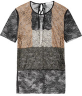 Sandro Sue Paneled Lace Top
