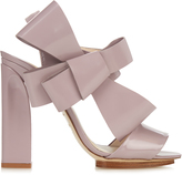 DELPOZO Patent-leather bow-embellished high-heel sandals