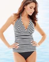 Soma Intimates Stripes V-Neck Halter Tankini Swim Top