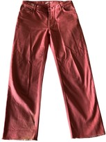 Celine Pink Cotton Trousers for Women