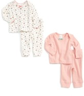 Toddler Girl's Mini Boden Cozy Pointelle 2-Pack Tee & Pants Set