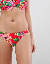Pour Moi? Pour Moi Bikini Bottom in red floral
