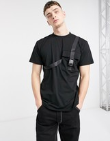 The Ragged Priest t-shirt with straps in black
