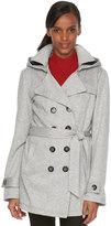Women's SEB Hooded Fleece Double-Breasted Trench Jacket
