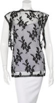 Wes Gordon Silk Lace Top w/ Tags