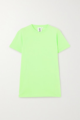 Les Girls Les Boys Embroidered Cotton-jersey T-shirt - Green