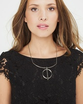 White House Black Market Bar-Circle Collar Necklace