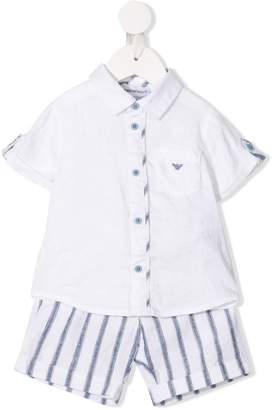 Emporio Armani Kids shirt and short set