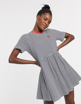 Tommy Jeans striped t-shirt dress in multi