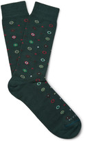 Etro Patterned Stretch Cotton-Blend Socks