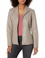 Cole Haan Women's Leather Wing Collared Jacket
