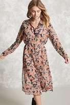 Forever 21 FOREVER 21+ Contemporary Floral Shirt Dress