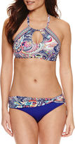 Liz Claiborne Paisley High Neck Swimsuit Top