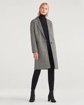 7 For All Mankind Womens Long Trench Coat