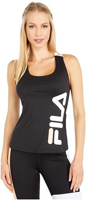 Fila Agda Tank (Black/White/Almost Apricot) Women's Clothing