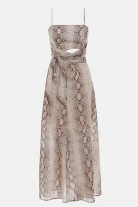 Zimmermann Snake Bellitude Scarf Tie Dress