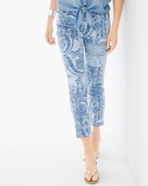 Chico's Paisley Patchwork Girlfriend Ankle Jeans