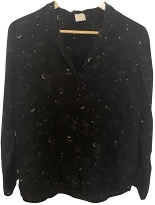 Des Petits Hauts Black Silk Top for Women
