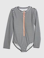 Gap Kids Stripe Zip Rash Guard One-Piece