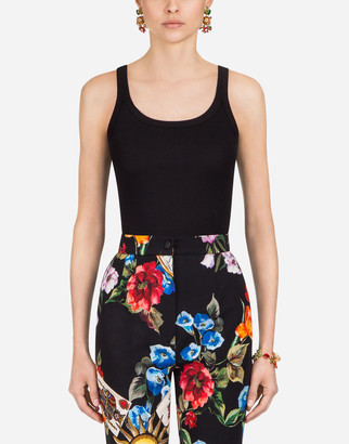 Dolce & Gabbana Sleeveless Cotton T-Shirt