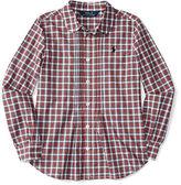 Ralph Lauren Pintucked Plaid Cotton Shirt