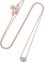 Monica Vinader Nura Rose Gold Vermeil Diamond Necklace - one size