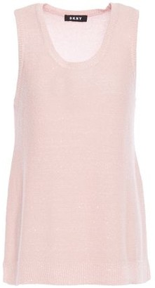 DKNY Sequin-embellished Knitted Top
