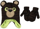"Critter Collection ""Grizzly"" Beanie & Mittens Set"