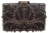 Roberto Cavalli Leather Embellished Clutch