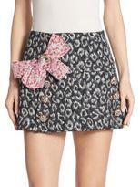 Dolce & Gabbana Jacquard Button Skirt