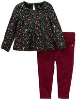 AG Jeans Printed Jersey Top & Pant 2-Piece Set (Baby Girls)
