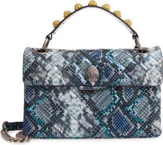 Kurt Geiger London Kensington X Snake Embossed Leather Shoulder Bag