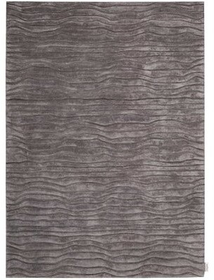 """Calvin Klein Canyon Hand-Knotted Gray Area Rug Rug Size: Rectangle 5'3"""" x 7'5"""""""