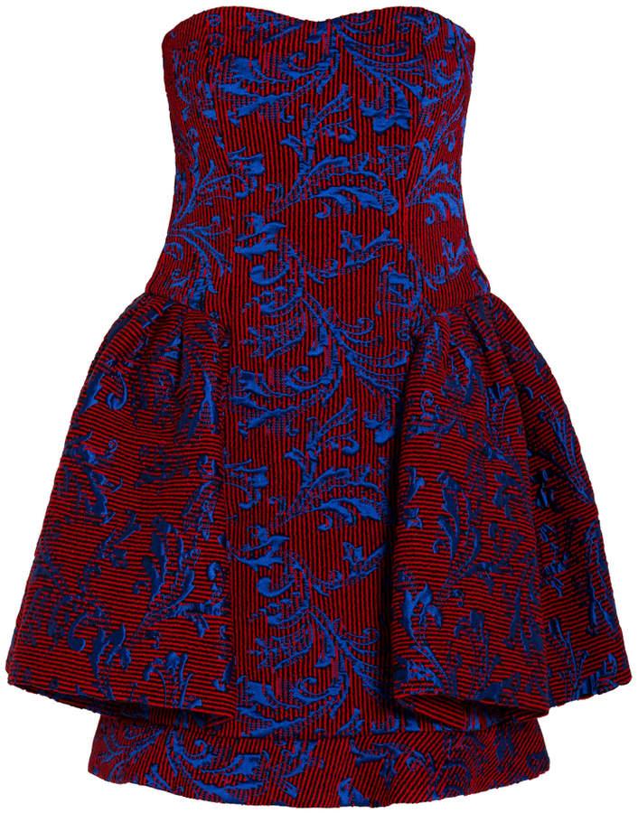 Emporio Armani Strapless Damask Dress