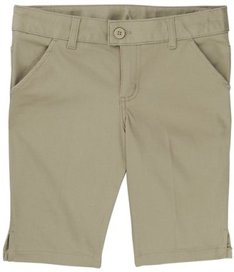 French Toast Girls School Uniform Adjustable Waist Stretch Twill Bermuda Shorts, Sizes 4-20 & Plus