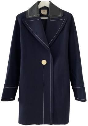 Edun Blue Wool Coats
