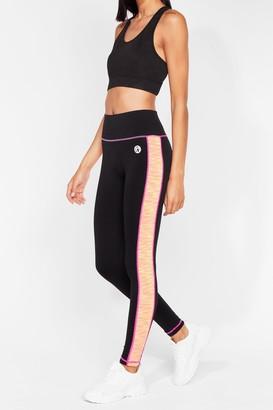 Nasty Gal Womens We've Got Moves Contrast Workout Leggings - Black - S