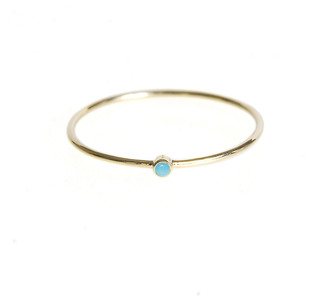 Jennifer Meyer Thin Ring with Turquoise