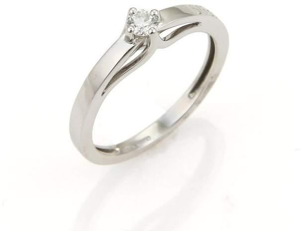Damiani Kate 18K White Gold & 0.20ct. Diamond Ring Size 7