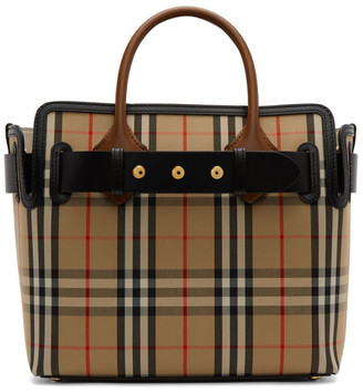 Burberry Beige Small Vintage Check Belt Tote