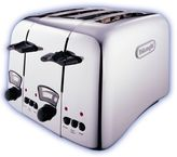 De'Longhi Delonghi Argento 4-Slice Toaster Chrome CT04.C