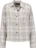 Isabel Marant Kessa plaid wool-blend shirt