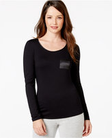 Alfani Long Sleeve Solid Top, Only at Macy's