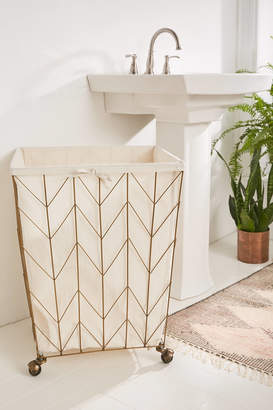Urban Outfitters Chevron Frame Wire Hamper