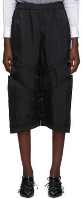 Comme des Garcons Black Knee Seam Detail Trousers