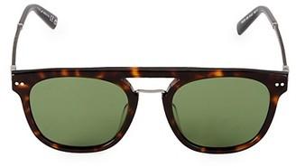 Web 51MM Round Flat-Top Sunglasses
