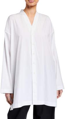 eskandar Slim A-Line V-Neck Shirt