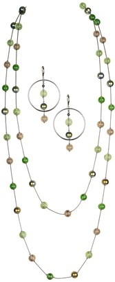 """Linea by Louis Dell'Olio 72"""" Cathedral Necklace& Earring Set"""